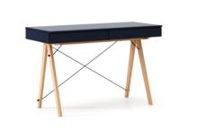 Biurko BASIC kolor NAVY stelaż BUK (standard)  Minimalistyczne biurko z dwoma dyskretnymi szufladami. Wykonane ręcznie z litego drewna i blatu w dowolnym...