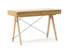 Biurko BASIC kolor RAW OAK stelaż BUK (standard)  Minimalistyczne biurko z dwoma dyskretnymi szufladami. Wykonane ręcznie z litego drewna i blatu w...