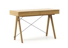 Biurko BASIC kolor RAW OAK stelaż DĄB  Minimalistyczne biurko z dwoma dyskretnymi szufladami. Wykonane ręcznie z litego drewna i blatu w dowolnym...