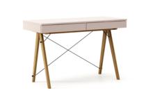 Biurko BASIC kolor DUSTY PINK stelaż DĄB  Minimalistyczne biurko z dwoma dyskretnymi szufladami. Wykonane ręcznie z litego drewna i blatu w dowolnym...