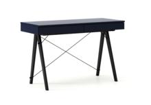 Biurko BASIC kolor NAVY stelaż BUK BLACK  Minimalistyczne biurko z dwoma dyskretnymi szufladami. Wykonane ręcznie z litego drewna i blatu w dowolnym...