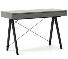 Biurko BASIC kolor GREY stelaż BUK BLACK  Minimalistyczne biurko z dwoma dyskretnymi szufladami. Wykonane ręcznie z litego drewna i blatu w dowolnym...
