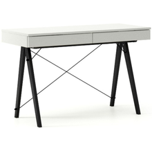 Biurko BASIC kolor LIGHT GREY stelaż BUK BLACK  Minimalistyczne biurko z dwoma dyskretnymi szufladami. Wykonane ręcznie z litego drewna i blatu w dowolnym...