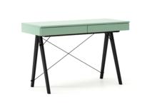 Biurko BASIC kolor MINT stelaż BUK BLACK  Minimalistyczne biurko z dwoma dyskretnymi szufladami. Wykonane ręcznie z litego drewna i blatu w dowolnym...