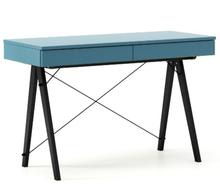 Biurko BASIC kolor OCEANIC stelaż BUK BLACK  Minimalistyczne biurko z dwoma dyskretnymi szufladami. Wykonane ręcznie z litego drewna i blatu w dowolnym...