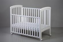 Łóżeczko z opuszczanym bokiem NICOLE 120x60 - biały