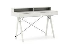 Biurko BASIC+ kolor WHITE stelaż BUK WHITE  Minimalistyczne biurko z dwoma dyskretnymi szufladami. Wykonane ręcznie z litego drewna i blatu w dowolnym...
