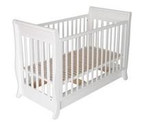 Łóżeczko dziecięce o wymiarach 120 cm x 60 cm dostępne w dwóch wariantach kolorystycznych:białymoraznaturalnym.  Łóżeczko...