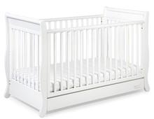 Łóżeczko z kolekcji ROMANTICA to idealne rozwiązanie dla rodziców, którzy chcą aby łóżeczko dziecka rosło razem z nim.  Łóżeczko posiada...