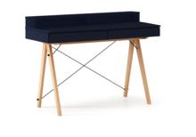 Biurko BASIC+ kolor NAVY stelaż BUK (standard)  Minimalistyczne biurko z dwoma dyskretnymi szufladami. Wykonane ręcznie z litego drewna i blatu w dowolnym...