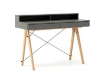 Biurko BASIC+ kolor GREY stelaż BUK (standard)  Minimalistyczne biurko z dwoma dyskretnymi szufladami. Wykonane ręcznie z litego drewna i blatu w dowolnym...