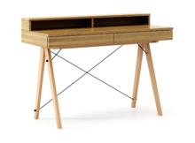 Biurko BASIC+ kolor RAW OAK stelaż BUK (standard)  Minimalistyczne biurko z dwoma dyskretnymi szufladami. Wykonane ręcznie z litego drewna i blatu w...