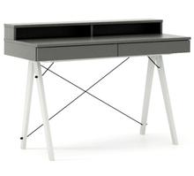Biurko BASIC+ kolor GREY stelaż BUK WHITE  Minimalistyczne biurko z dwoma dyskretnymi szufladami. Wykonane ręcznie z litego drewna i blatu w dowolnym...