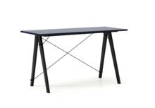 Biurko SLIM kolor NAVY stelaż BUK BLACK  Minimalistyczne biurko w formie stolika z wygodną nadstawką na drobiazgi. Wykonane ręcznie z litego drewna i...