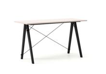 Biurko SLIM kolor DUSTY PINK stelaż BUK BLACK  Minimalistyczne biurko w formie stolika z wygodną nadstawką na drobiazgi. Wykonane ręcznie z litego...