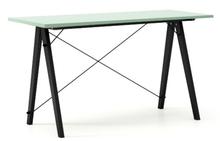 Biurko SLIM kolor MINT stelaż BUK BLACK  Minimalistyczne biurko w formie stolika z wygodną nadstawką na drobiazgi. Wykonane ręcznie z litego drewna i...