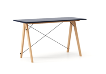 Biurko SLIM kolor NAVY stelaż BUK (standard)  Minimalistyczne biurko w formie stolika z wygodną nadstawką na drobiazgi. Wykonane ręcznie z litego drewna...