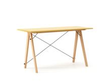 Biurko SLIM kolor LIGHT MUSTARD stelaż BUK (standard)  Minimalistyczne biurko w formie stolika z wygodną nadstawką na drobiazgi. Wykonane ręcznie z...