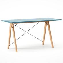Biurko SLIM kolor OCEANIC stelaż BUK (standard)  Minimalistyczne biurko w formie stolika z wygodną nadstawką na drobiazgi. Wykonane ręcznie z litego...