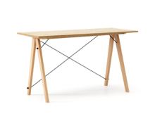 Biurko SLIM kolor RAW OAK stelaż BUK (standard)  Minimalistyczne biurko w formie stolika z wygodną nadstawką na drobiazgi. Wykonane ręcznie z litego...