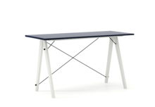 Biurko SLIM kolor NAVY stelaż BUK WHITE  Minimalistyczne biurko w formie stolika z wygodną nadstawką na drobiazgi. Wykonane ręcznie z litego drewna i...
