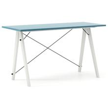 Biurko SLIM kolor OCEANIC stelaż BUK WHITE  Minimalistyczne biurko w formie stolika z wygodną nadstawką na drobiazgi. Wykonane ręcznie z litego drewna i...