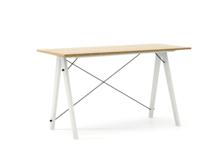 Biurko SLIM kolor RAW OAK stelaż BUK WHITE  Minimalistyczne biurko w formie stolika z wygodną nadstawką na drobiazgi. Wykonane ręcznie z litego drewna i...