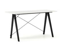 Biurko SLIM kolor WHITE stelaż BUK BLACK  Minimalistyczne biurko w formie stolika z wygodną nadstawką na drobiazgi. Wykonane ręcznie z litego drewna i...