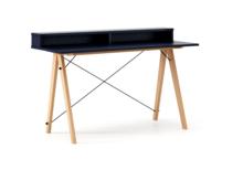 Biurko SLIM+ kolor NAVY stelaż BUK (standard)  Minimalistyczne biurko w formie stolika z wygodną nadstawką na drobiazgi. Wykonane ręcznie z litego...