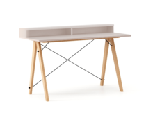 Biurko SLIM+ kolor DUSTY PINK stelaż BUK (standard)  Minimalistyczne biurko w formie stolika z wygodną nadstawką na drobiazgi. Wykonane ręcznie z litego...