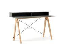 Biurko SLIM+ kolor GREY stelaż BUK (standard)  Minimalistyczne biurko w formie stolika z wygodną nadstawką na drobiazgi. Wykonane ręcznie z litego...