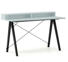 Biurko SLIM+ kolor ICE BLUE stelaż BUK BLACK  Minimalistyczne biurko w formie stolika z wygodną nadstawką na drobiazgi. Wykonane ręcznie z litego drewna...