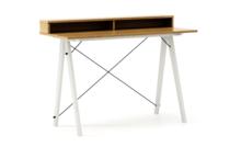 Biurko SLIM+ kolor RAW OAK stelaż BUK WHITE  Minimalistyczne biurko w formie stolika z wygodną nadstawką na drobiazgi. Wykonane ręcznie z litego drewna...