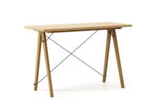 Biurko SLIM WOODIE blat DĄB stelaż DĄB  Minimalistyczne biurko w formie stolika z wygodną nadstawką na drobiazgi. Wykonane ręcznie z litego drewna i...