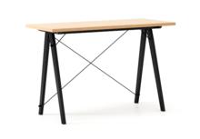 Biurko SLIM WOODIE blat BUK stelaż BUK BLACK  Minimalistyczne biurko w formie stolika z wygodną nadstawką na drobiazgi. Wykonane ręcznie z litego drewna...