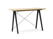 Biurko SLIM WOODIE blat DĄB stelaż BUK BLACK  Minimalistyczne biurko w formie stolika z wygodną nadstawką na drobiazgi. Wykonane ręcznie z litego...