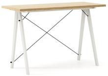 Biurko SLIM WOODIE blat DĄB stelaż BUK WHITE  Minimalistyczne biurko w formie stolika z wygodną nadstawką na drobiazgi. Wykonane ręcznie z litego...
