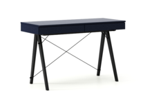 Biurko BASIC KIDS kolor NAVY stelaż BUK BLACK  Minimalistyczne biurko z dwoma szufladami i wygodną nadstawką na drobiazgi. Wykonane ręcznie z...