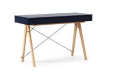 Biurko BASIC KIDS kolor NAVY stelaż BUK (standard)  Minimalistyczne biurko z dwoma szufladami i wygodną nadstawką na drobiazgi. Wykonane ręcznie z...
