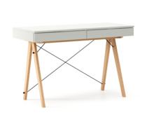 Biurko BASIC KIDS kolor LIGHT GREY stelaż BUK (standard)  Minimalistyczne biurko z dwoma szufladami i wygodną nadstawką na drobiazgi. Wykonane ręcznie z...