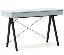 Biurko BASIC KIDS kolor ICE BLUE stelaż BUK BLACK  Minimalistyczne biurko z dwoma szufladami i wygodną nadstawką na drobiazgi. Wykonane ręcznie z...