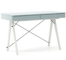 Biurko BASIC KIDS kolor ICE BLUE stelaż BUK WHITE  Minimalistyczne biurko z dwoma szufladami i wygodną nadstawką na drobiazgi. Wykonane ręcznie z...
