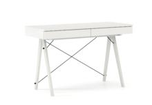 Biurko BASIC KIDS kolor WHITE stelaż BUK WHITE  Minimalistyczne biurko z dwoma szufladami i wygodną nadstawką na drobiazgi. Wykonane ręcznie z litego...