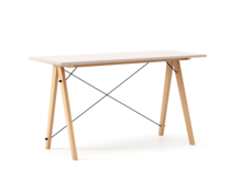 Biurko SLIM KIDS kolor DUSTY PINK stelaż BUK (standard)  Minimalistyczne biurko w formie stolika z wygodną nadstawką na drobiazgi. Wykonane ręcznie z...