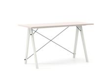 Biurko SLIM KIDS kolor DUSTY PINK stelaż BUK WHITE  Minimalistyczne biurko w formie stolika z wygodną nadstawką na drobiazgi. Wykonane ręcznie z litego...