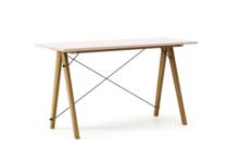 Biurko SLIM KIDS kolor DUSTY PINK stelaż DĄB  Minimalistyczne biurko w formie stolika z wygodną nadstawką na drobiazgi. Wykonane ręcznie z litego...