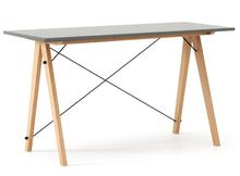 Biurko SLIM KIDS kolor GREY stelaż BUK (standard)  Minimalistyczne biurko w formie stolika z wygodną nadstawką na drobiazgi. Wykonane ręcznie z litego...