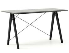 Biurko SLIM KIDS kolor GREY stelaż BUK BLACK  Minimalistyczne biurko w formie stolika z wygodną nadstawką na drobiazgi. Wykonane ręcznie z litego drewna...