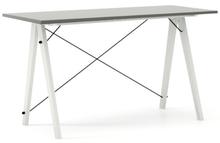 Biurko SLIM KIDS kolor GREY stelaż BUK WHITE  Minimalistyczne biurko w formie stolika z wygodną nadstawką na drobiazgi. Wykonane ręcznie z litego drewna...