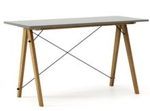 Biurko SLIM KIDS kolor GREY stelaż DĄB  Minimalistyczne biurko w formie stolika z wygodną nadstawką na drobiazgi. Wykonane ręcznie z litego drewna i...